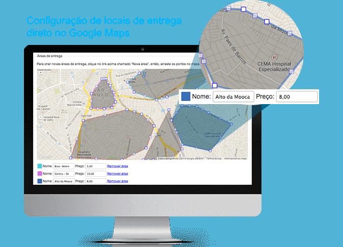 sistema de restaurante - google maps - eComanda