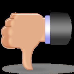 thumbs down atendimento ao cliente