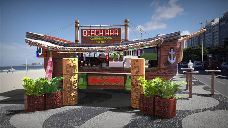 carros para food truck - beach bar