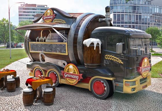 carros para food truck - cerveja
