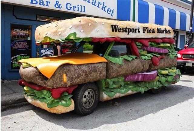 carros para food truck - sanduiche