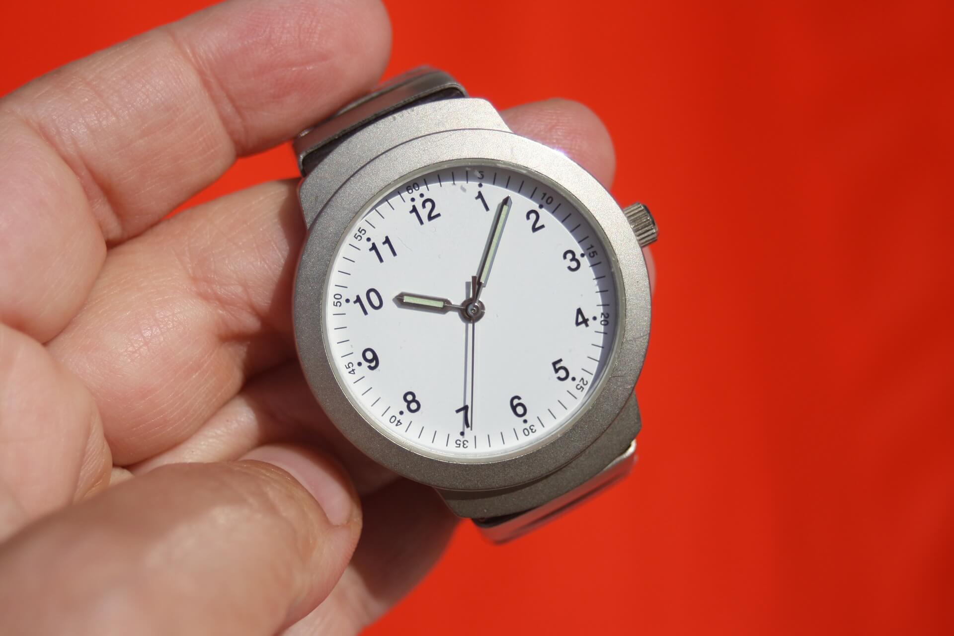 rapidez no atendimento - relógio