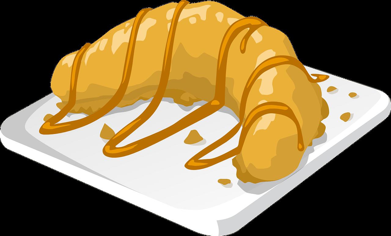 cardápio de sobremesas - croissant