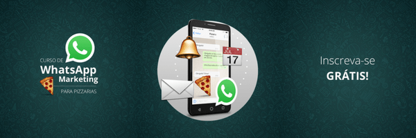 Botão para se inscrever no curso WhatsApp Marketing para Pizzarias e Deliveries